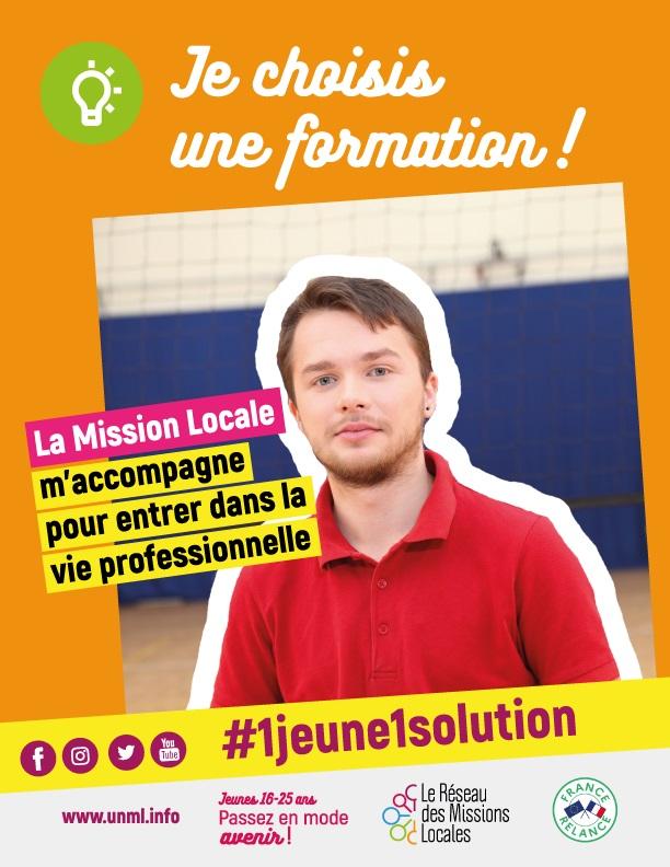#un jeune, 1 solution. Pour tous renseignements, contactez la Mission Locale au 05.49.66.76.60